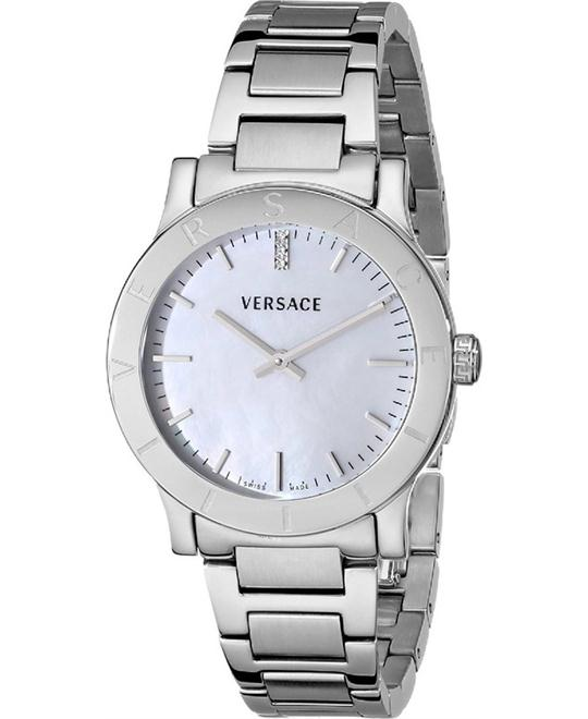 Versace Acron Diamond-Accented Watch 33mm