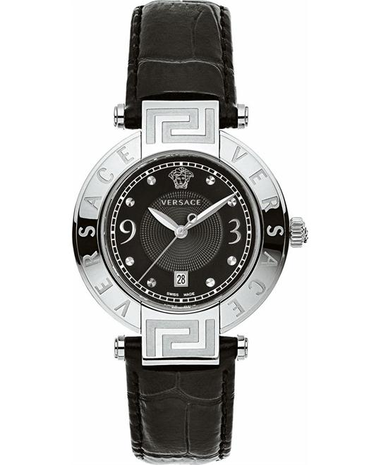 Versace Reve Black Dial Watch 34mm