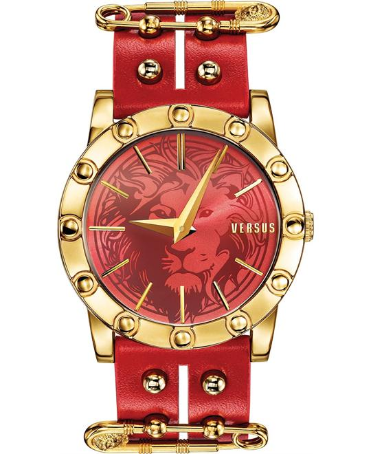 Versus by Versace Women's Gold Leather 40mm