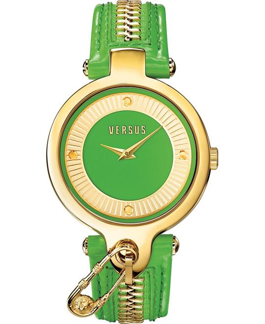 Versus by Versace Women's Key Gold Leather 38mm