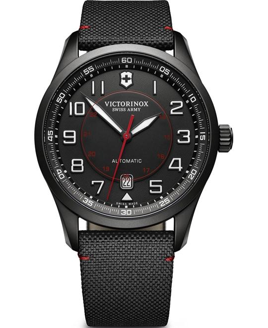 Victorinox Airboss Automatic Dial Black Nylon Watch 42mm