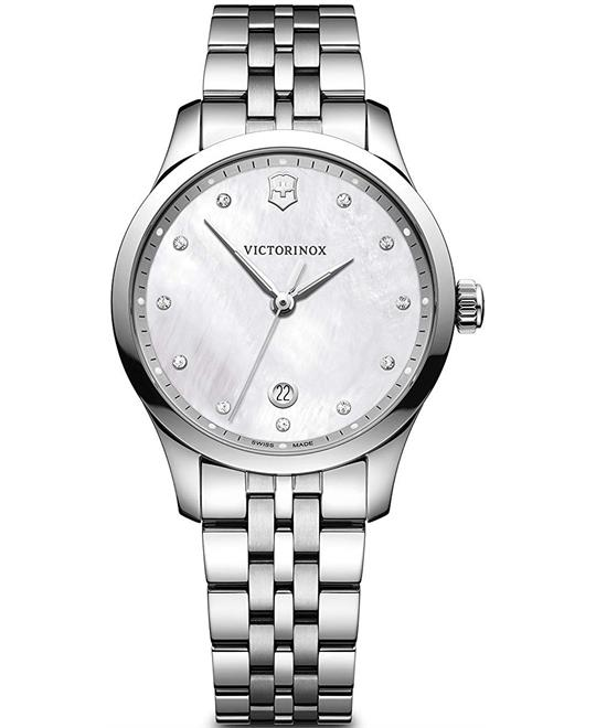 Victorinox Alliance White Mother of Pearl Dial Ladies Watch 35mm