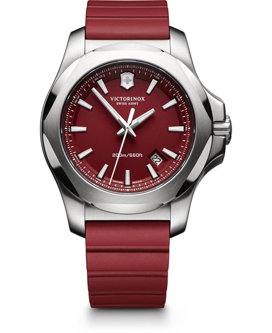 VICTORINOX I.N.O.X Red Rubber Men's Watch 43mm