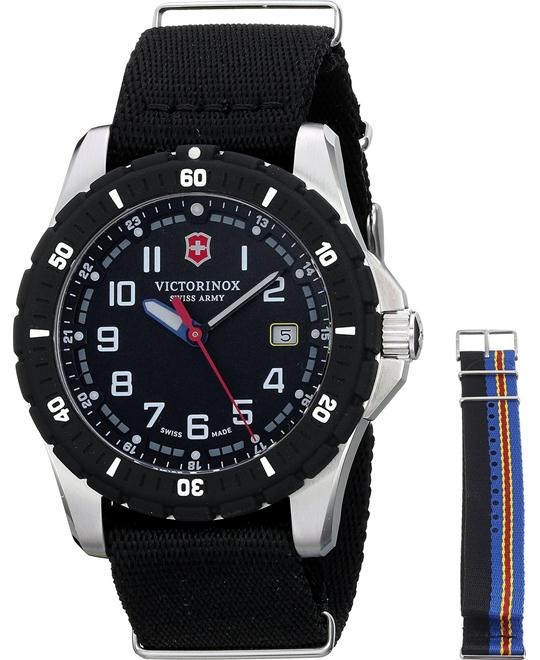 VICTORINOX Swiss Army Maverick NATO Nylon Watchh 43mm