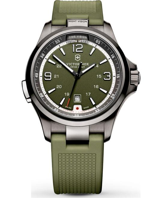 VICTORINOX Night Vision Olive Green Men's Watch 42mm