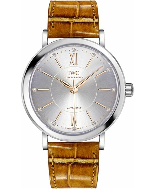 IWC Portofino IW458101 Diamond Automatic Watch 37mm