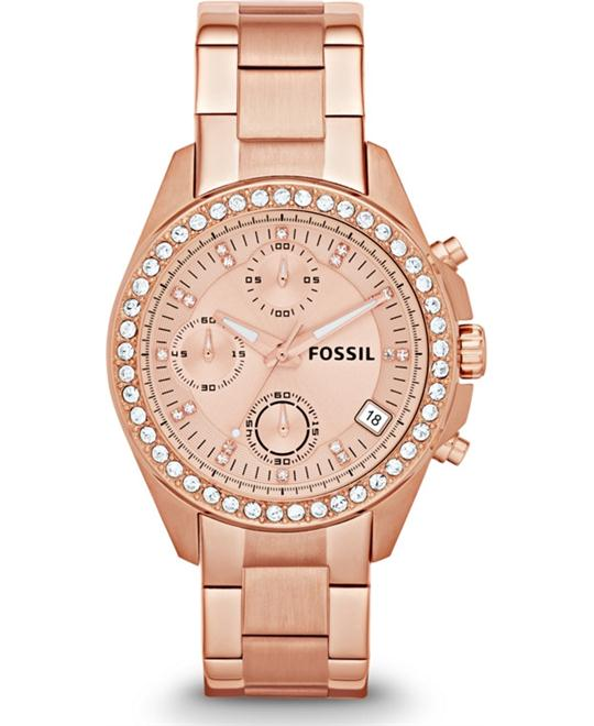 Women's Chronograph Decker Rose Gold-Tone Stainless Steel Bracelet 38mm