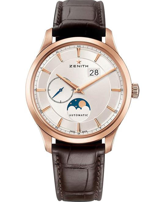 ZENITH Captain Moonphase 18kt Rose Gold Watch 40mm