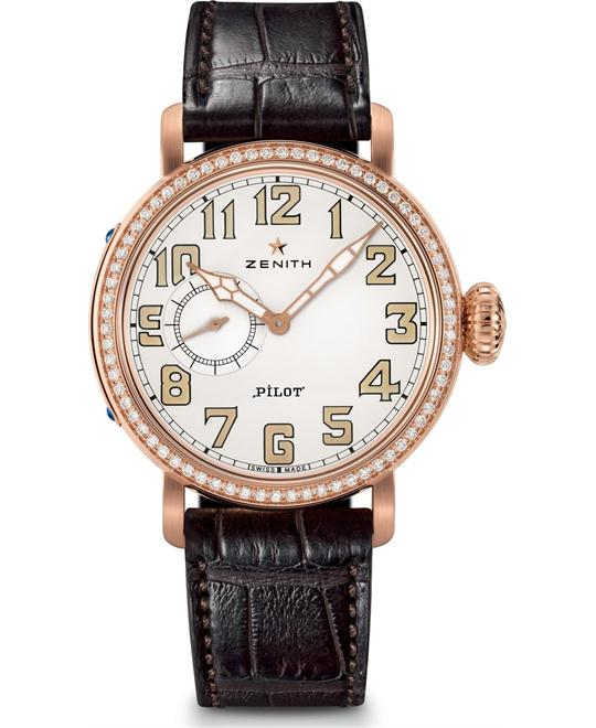 ZENITH Pilot Automatic White Dial Ladies Watch 40mm